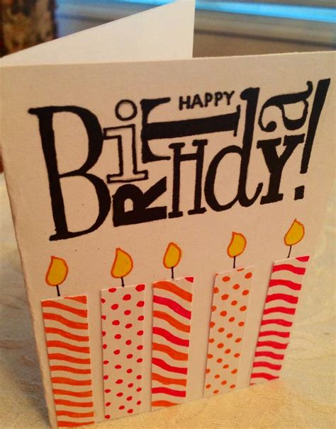 Easy Handmade Birthday Cards - easy birthday card card ideas