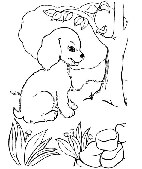 coloring pages puppies free free printable dog coloring pages for kids