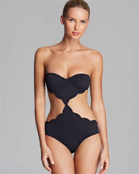 cut out swimsuit marysia swim swim scallop cut out underwire monokini one