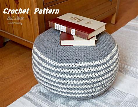 floor cushion pattern pattern crochet pouf pdf floor cushion patterns crochet