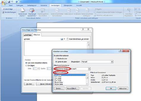 Etiketten Drucken Word Verschiedene Adressen by Etiketten Erstellen Und Drucken Unter Microsoft Word