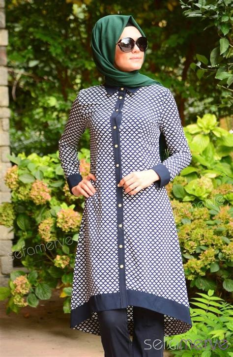 tesett 252 r tunik zernişan 4194 04 lacivert tunics kurtis and muslim fashion