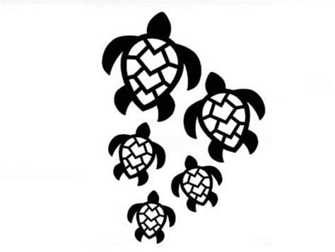 Turtle Family Decal   Shop Sunset Designs