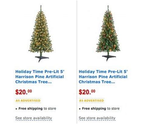 walmart markdown 5 foot pre lit christmas tree only 20