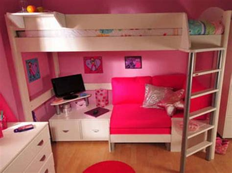 bed with a sofa underneath small bunk beds with underneath fortikur