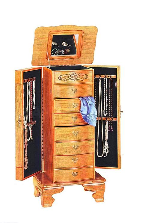 Oak Jewelry Armoire : The Most Beautiful Jewelry Armoires