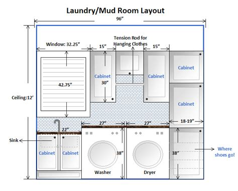 utility room floor plan am dolce vita laundry mud room makeover taking the plunge