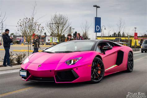 car lamborghini pink matte chrome pink lamborghini aventador in vancouver