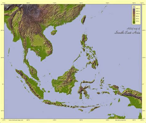 physical map of south east asia physical maps of southeast asia free printable maps