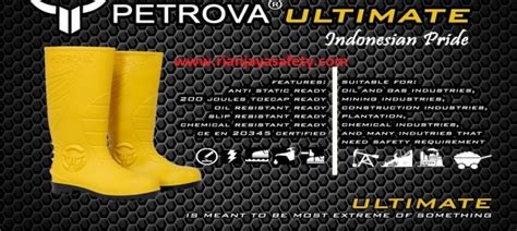 Sepatu Safety Petrova jual petrova safety boots rian jaya safety