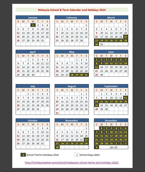 2014 new year calendar malaysia malaysian school terms and holidays 2014 holidays tracker