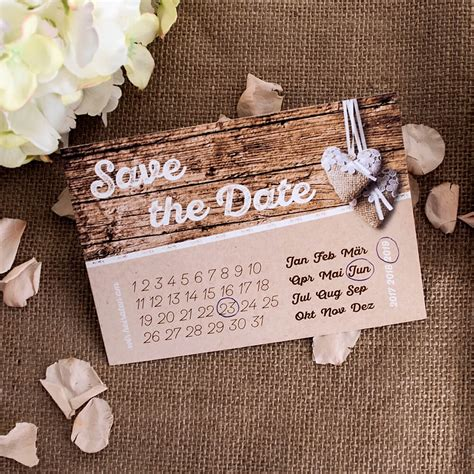 Save The Date Hochzeit by Save The Date Karte Quot Herzenssache Quot In Holzoptik Weddix De