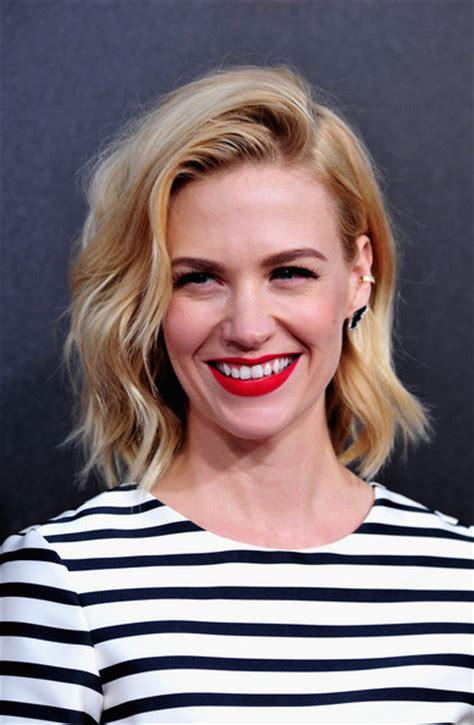 january jones actress hairstyles january jones medium wavy cut hair lookbook stylebistro