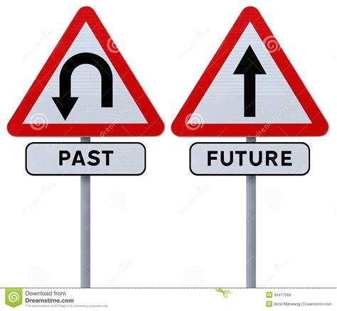 Past And Future Stock Photo Image Of Arrow Turn U