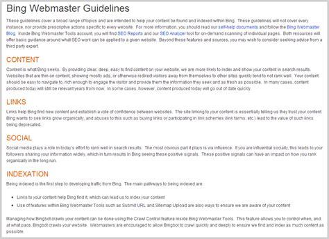 blogger united bing ver 246 ffentlicht eigene webmaster guidelines seite 1