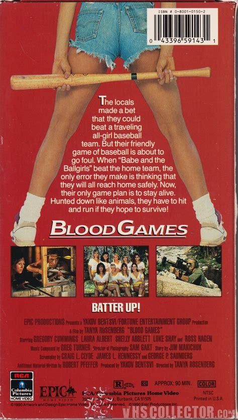 blood games vhscollectorcom