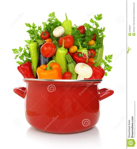 colorful vegetables colorful vegetables in a cooking pot royalty free