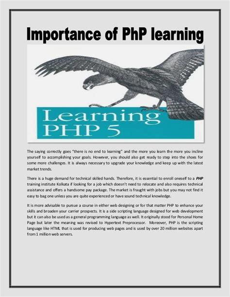 php tutorial in kolkata php training