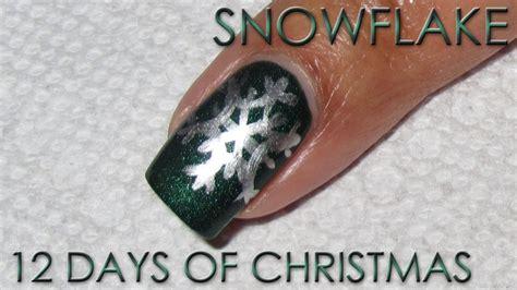 snowflake 12 days of nail diy tutorial