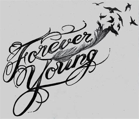 forever young tattoo designs forever on
