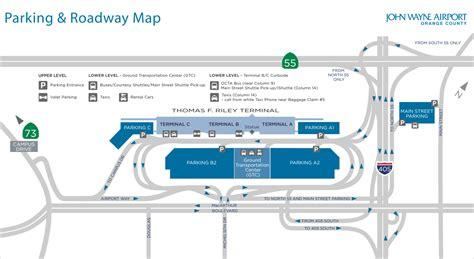 wayne airport map wayne airport parking guide find cheap parking near sna