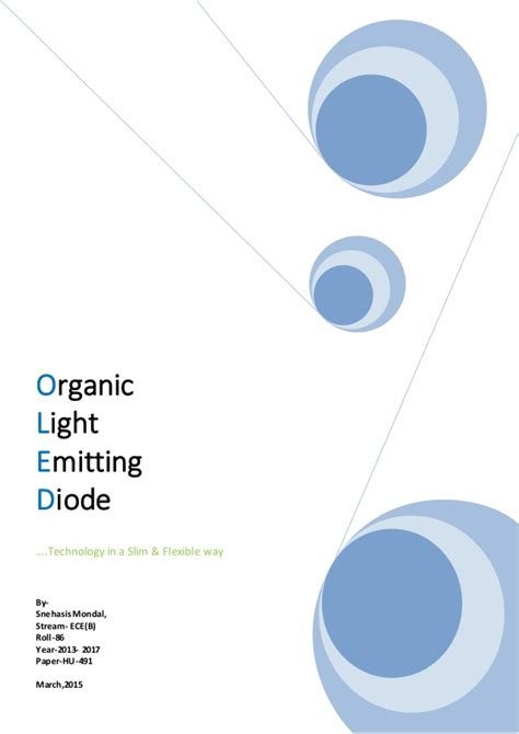 organic light emitting diodes the use of earth and transition metals organic light emitting diode