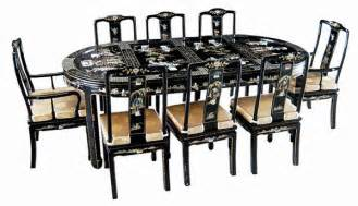 elegant 9 pcs dining room set oriental furniture ebay