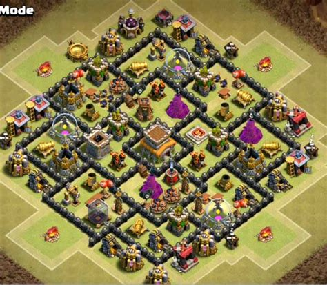 Coc Layout Anti Gowipe Th8 | 8 best th8 war bases anti gowipe 2018