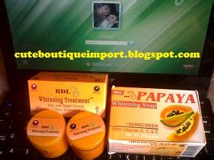 Sabun Papaya Asli boutique import rdl papaya whitening treatment