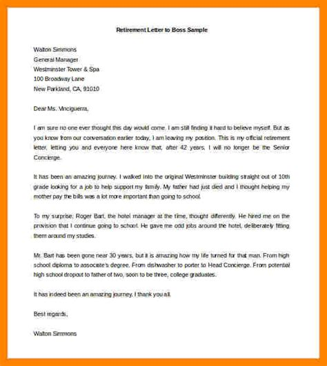 retirement resignation letter sample resignition letter