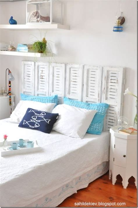 old shutters for headboard 15 summer craft and diy ideas for the home shutters