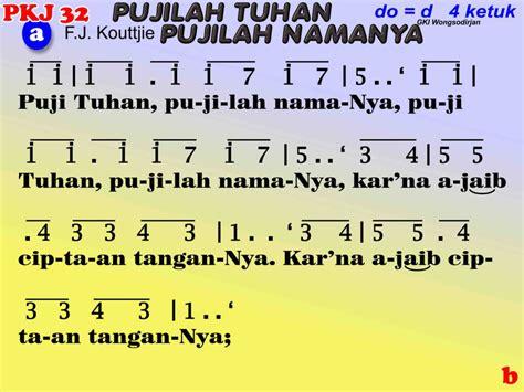 lirik lagu timor fula roja pkj 032 puji tuhan pujilah namanya kidungonline com