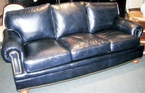 navy leather couch 102078 bradington young navy leather sofa l86 quot d39
