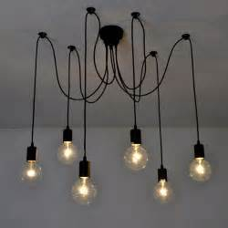cafe ceiling lights 6 lights industrial vintage ceiling light pendant l