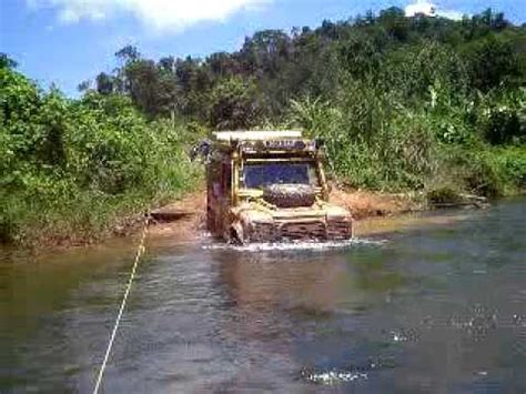 land rover jungle land rover water wading in cambodian jungle