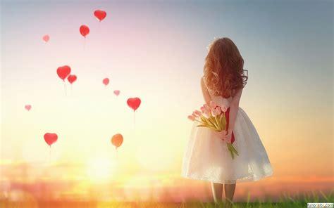 wallpaper girl love beautiful sunset girl love balloons wallpaper 1600x1000