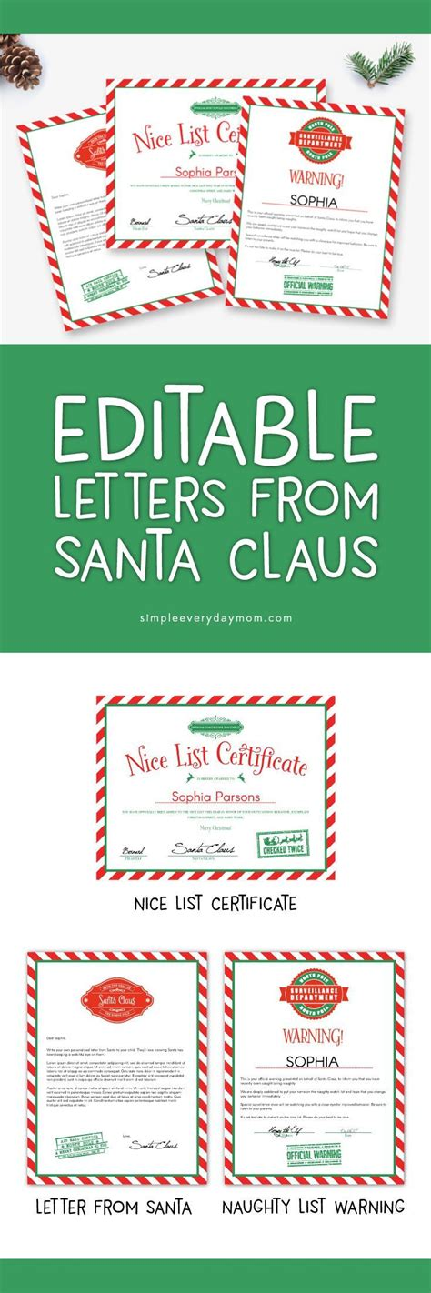 free letters from santa 25 unique free letters from santa ideas on 1251