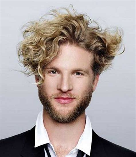 mens haircuts blonde curly 35 cool curly hairstyles for men mens hairstyles 2018