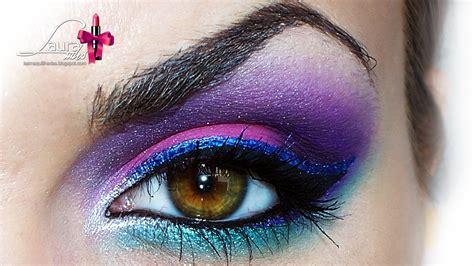 imagenes de ojos fantasia en es pink blue purple makeup maquillaje en rosa