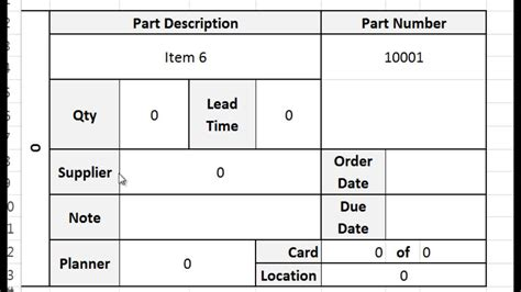 free card template excel kanban card template