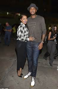 Keeping it modest la la anthony and husband carmelo looked stylishly