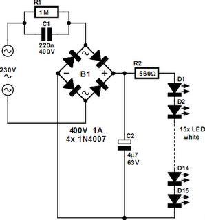 led resistor for 230v 230v white led l circuit project