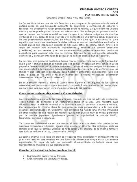 COCINAS ORIENTALES Y SU HISTORIA