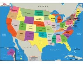 Usa Map With States And Their Capitals Images Us Map Shows - Map of the us states and their capitals