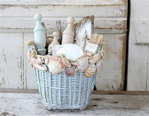 How To Decorate With Seashells Basket Craft Petticoat | weekend paint projects page 7 of 7 sand and sisal