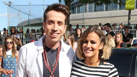 x factor bopheads caroline flack s picture of nick grimshaw with a perm