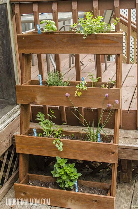 herb garden box diy window box herb garden unoriginal mom