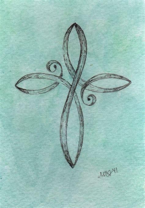 infinity cross tattoo meaning best 25 cross infinity tattoos ideas on