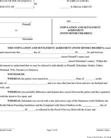 stipulation agreement template south dakota stipulation and settlement agreement