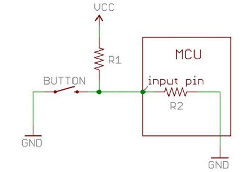 voltage dividers in a pull up resistor circuit why does the pin go to low electrical